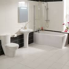 p shaped bath shower screen bathroom suite toilet wc basin sink taps waste end panel are not included to allow a greater freedom of choice
