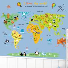 weltkarte für kinderzimmer aliexpress wandaufkleber removable weltkarte kinderzimmer