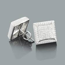 mens earrings mens diamond stud earrings 0 17ct sterling silver