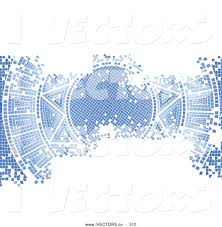 vector graphic of a pretty blue aged mosaic tile background of the