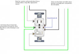 how to wire a single pole light switch and receptacle wiring diagram
