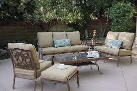 patio furniture deep seating set cast aluminum 7pc florence