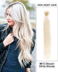 keratin hair extensions 613 white nail tip u tip 100 remy hair