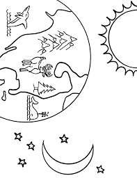 earth coloring pages moon stars sun coloringstar