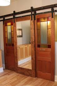 Sliding Closet Door Kit Interior Teak Wood With Glasses Sliding Closet Doors Combined