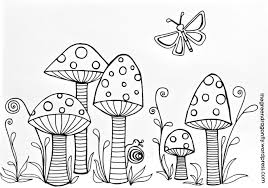 toadstools coloring page u2013 the green dragonfly