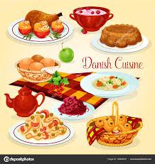 cuisine danoise icône de dessin animé plats dîner santé cuisine danoise image
