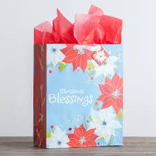 christmas paper bags christmas blessings large christmas gift bag dayspring