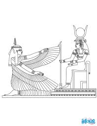 maat u0026 isis egyptian goddess u0026 gods coloring page coloring pages