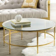 round gold glass coffee table round glass gold coffee table