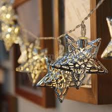 warm white string fairy lights battery operated warm white led fairy lights metal star string