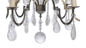 Rock Crystal Chandeliers Rococo Style Silvered Metal And Rock Crystal Six Light Chandelier