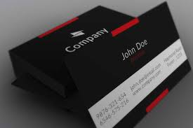 minimalistic black business card template by borce markoski at