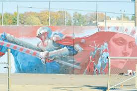 mural artist leaves his mark on londonderry high new hampshire