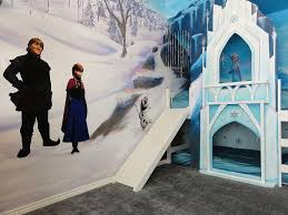 girls castle beds frozen bedroom is a u0027s dream slide down the ice castle bed
