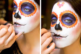 Halloween Makeup Dia De Los Muertos Sugar Skull Makeup How To How To Paint A Sugar Skull Face