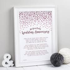 Wedding Verses Ruby Wedding Anniversary Poem Print U2013 Bespoke Verse