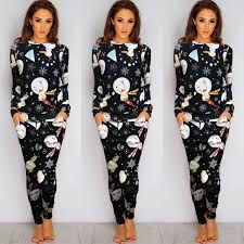 Hot Sale wonderful Womens Christmas Loungewear Set Sweatshirt