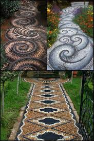 Walkway Ideas For Backyard by Best 25 Mosaic Walkway Ideas On Pinterest Stone Work Pebble