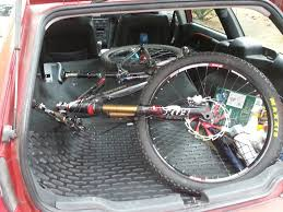 nissan rogue boot space does your mountain bike fit travel