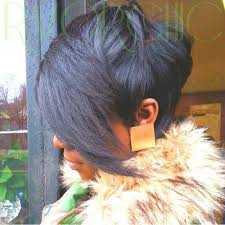 long hair in front short in back 60 showiest bob haircuts for black women