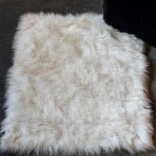 Faux Fur Area Rugs Union Rustic Shawnta Off White Faux Sheepskin Area Rug Walmart Com