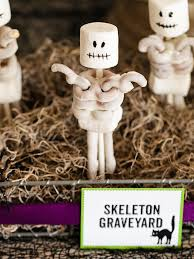 halloween kids u0027 craft pretzel skeletons hgtv