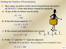 permutations 7 2 chapter 7 combinatorics ppt video online download