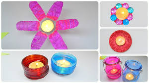 diwali decoration ideas 2016 at home candle decor how to