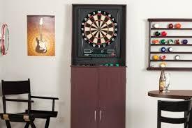 best dart board cabinet top 3 best electronic arcade dart board cabinets 2018
