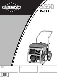 briggs u0026 stratton portable generator 30253 user guide