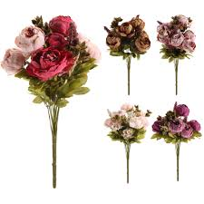 Decorative Flowers by Compare Prices On Peonies Flowers Bouquet Online Shopping Buy Low