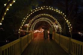 hopeland gardens christmas lights a bridge located at hopelands gardens covered in white christmas