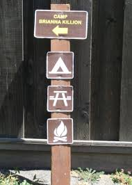 Fire Pit Signs by Writings By Rose Camping Birthday Party