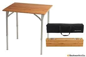Adjustable Height Folding Table Amazon Com Beckworth U0026 Co Smartflip Bamboo Portable Outdoor