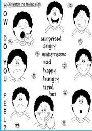 how do you feel worksheet by titila