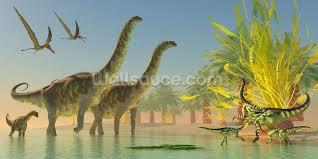 argentinosaurus in lake wallpaper wall mural wallsauce canada argentinosaurus in lake wall mural photo wallpaper