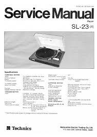 technics sl 23 service manual by vintage vibes issuu