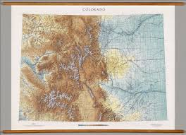 Colorado Map by Colorado Physical David Rumsey Historical Map Collection