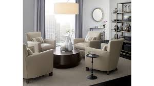 Crate And Barrel Dining Table Udan Round Coffee Table Crate And Barrel