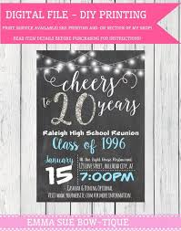 class reunions website any year class reunion personalized chalkboard invitation diy