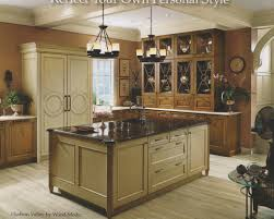 pictures of kitchens with different color cabinets kitchen