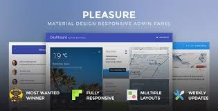 pleasure material design responsive admin panel by teamfox