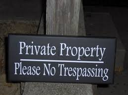 vertical private property no trespassing sign suitable for