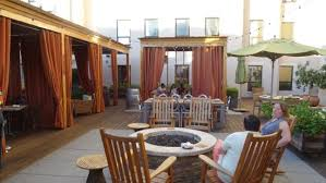terrace bar area with rocking chairs and pit picture of