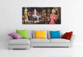 Marilyn Monroe Living Room by Marilyn Monroe Elvis Presley James Dean In Bar Panoramic Pop Art