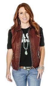 leather vest shop women u0027s montanaco burnt red faux leather vest