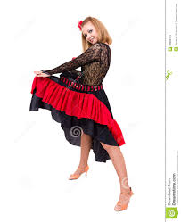 flamenco dancer woman gypsy with spanish hand fan stock images