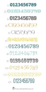 best 25 number fonts ideas on pinterest chalkboard numbers