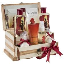 spa gift sets vanilla wooden jewelry box with bath spa gift set freida